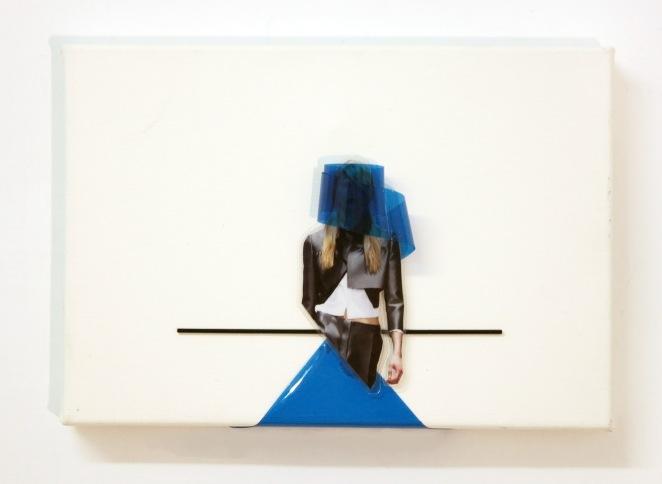"""Mixed Media on the canvas / 8.7"""" x6.1""""x1.5"""" / NY / 2014"""